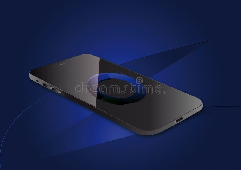 Illustrazione visiva di vettore di Smartphone fotografia stock libera da diritti