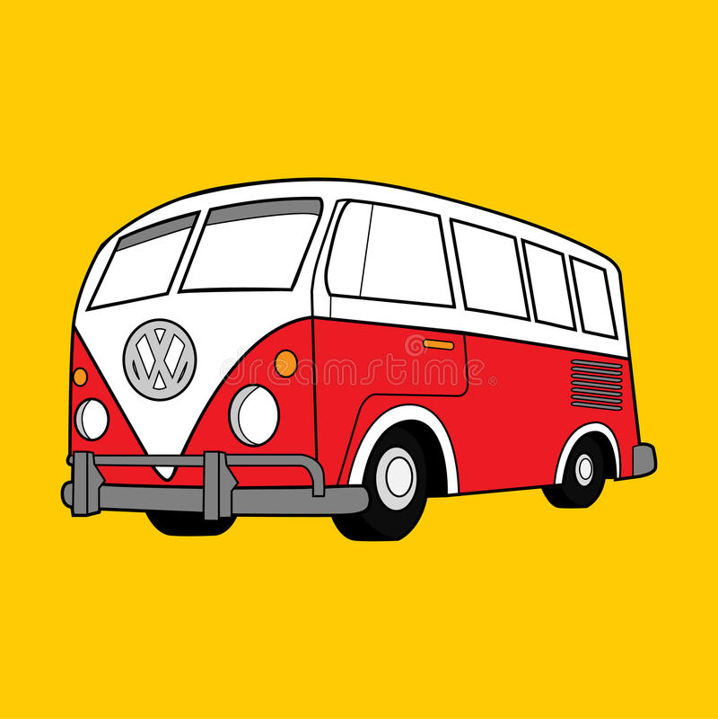 Illustrazione Volkswagen classico Van di vettore royalty illustrazione gratis
