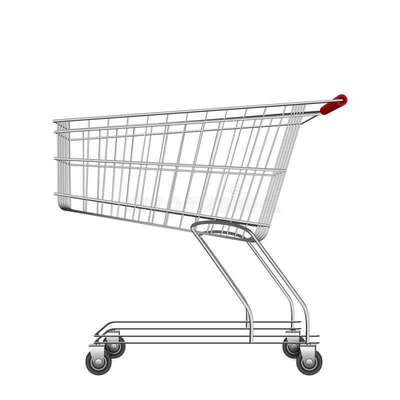 Illustrazione vuota del carrello del mercato, canestro del consumatore royalty illustrazione gratis