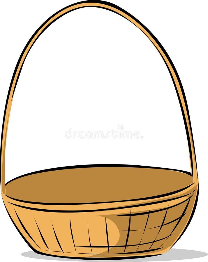 Illustrazione vuota di schizzo del canestro di Pasqua di vettore - posto qualche cosa nel canestro illustrazione di stock