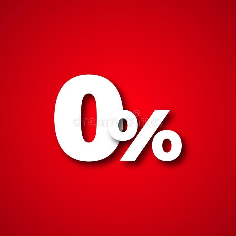 Illustrazione zero di vettore delle percentuali illustrazione vettoriale