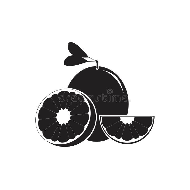 Illustrazioni arancio della frutta della fetta per la siluetta di disegno di logo di simbolo royalty illustrazione gratis
