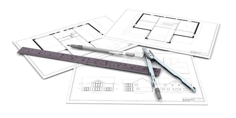 Illustrazioni architettoniche royalty illustrazione gratis