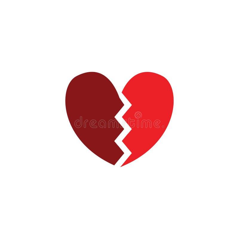 Illustrazioni artistiche dell'icona della rottura del cuore royalty illustrazione gratis