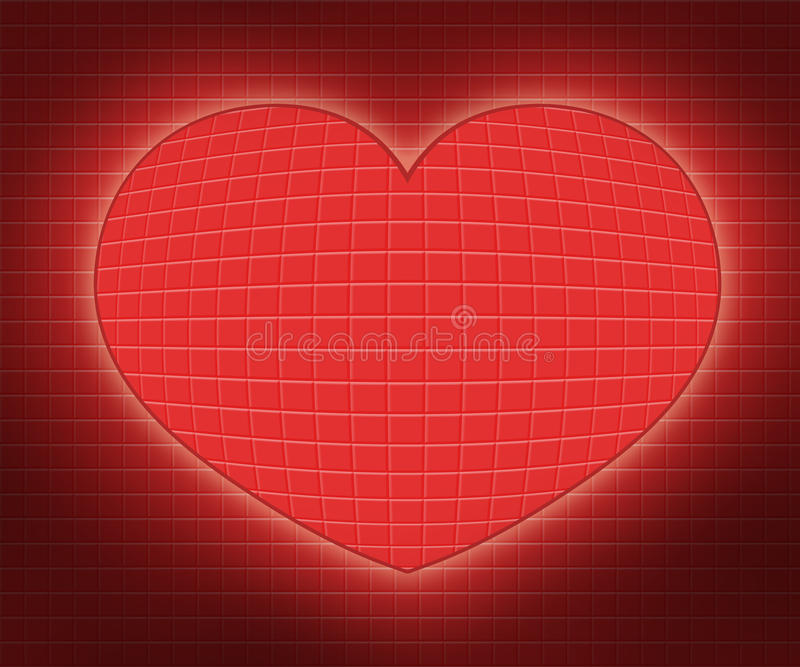 Illustrazioni astratte del cuore fotografia stock libera da diritti