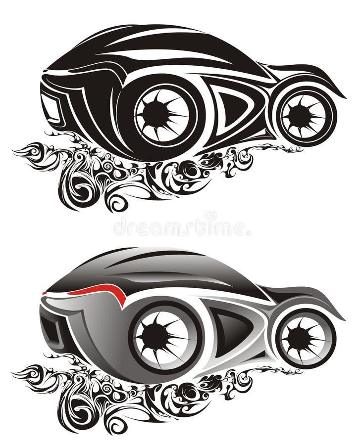 Illustrazioni astratte dell'automobile sportiva royalty illustrazione gratis