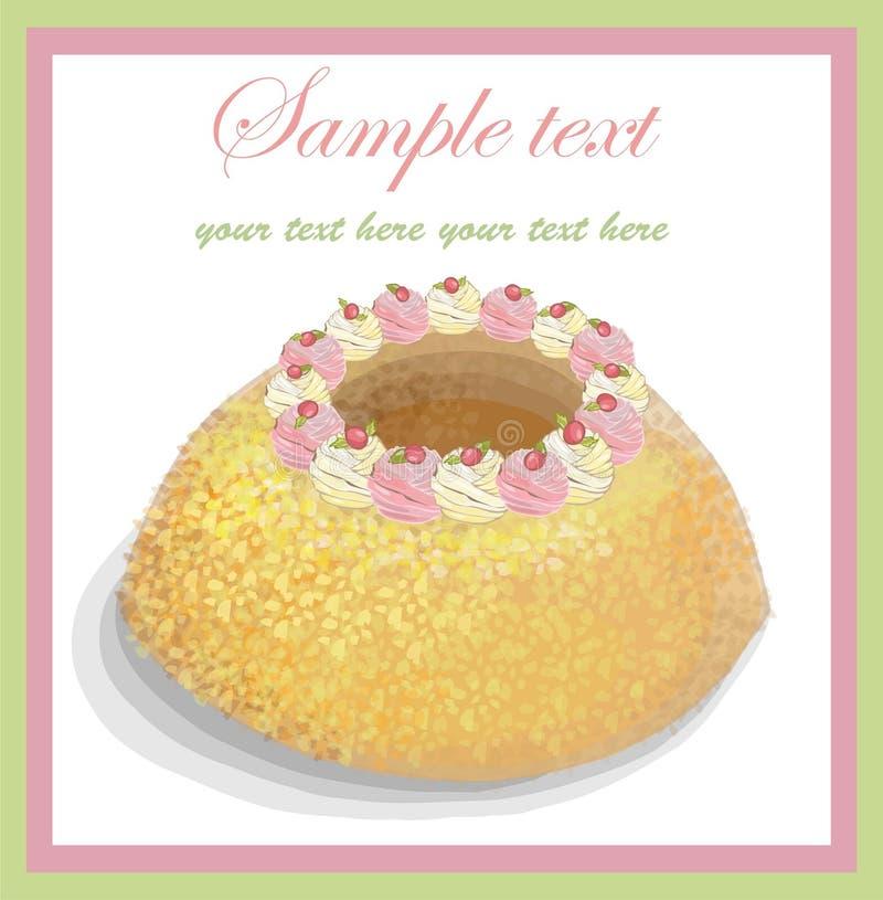 Illustrazioni della torta. illustrazione vettoriale