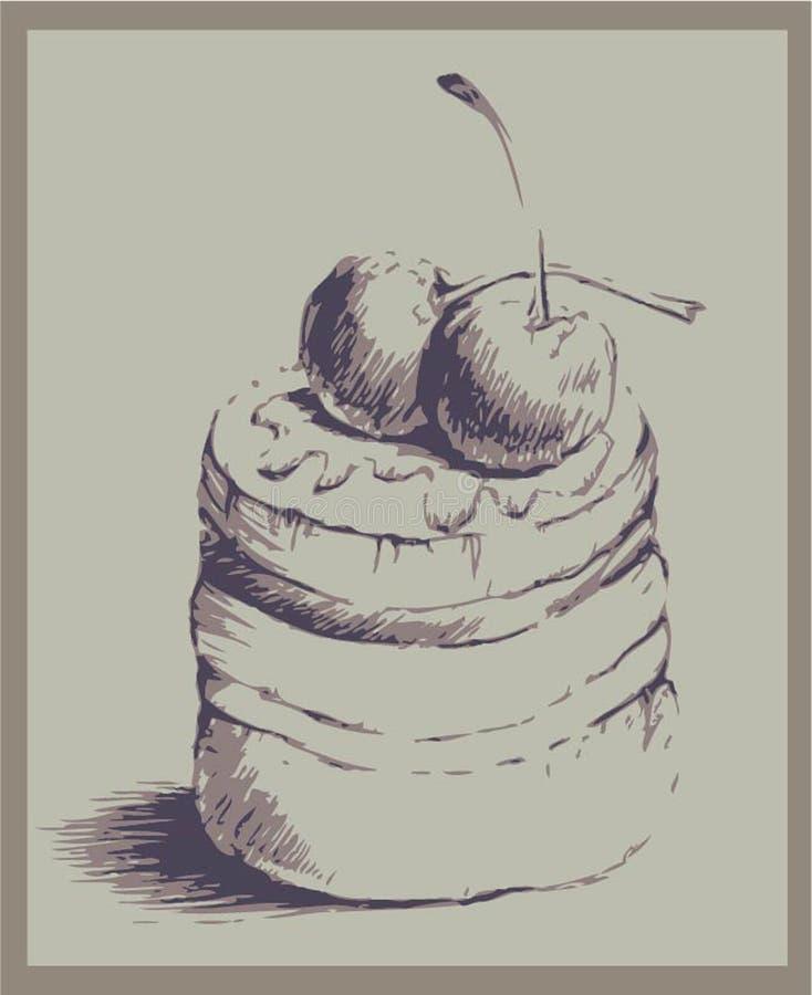 Illustrazioni della torta menu royalty illustrazione gratis