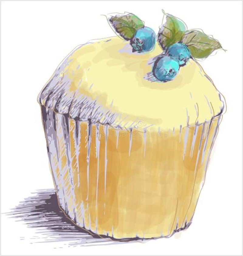 Illustrazioni della torta menu illustrazione di stock