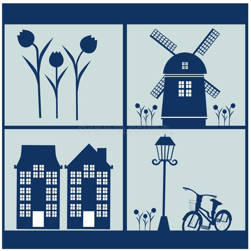 Illustrazioni delle icone dei Paesi Bassi fotografia stock