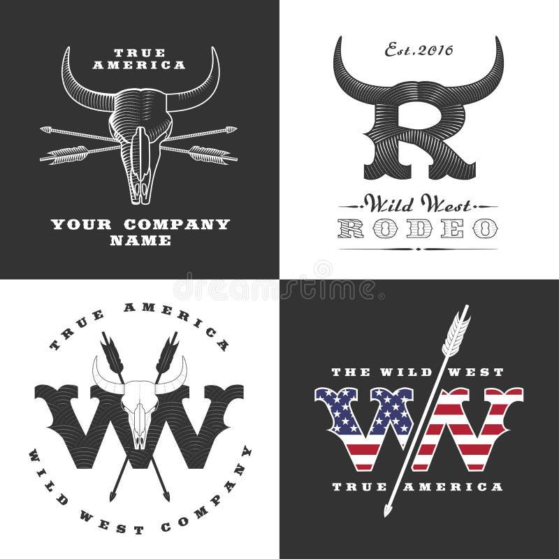 Illustrazioni di concetto di selvaggi West royalty illustrazione gratis