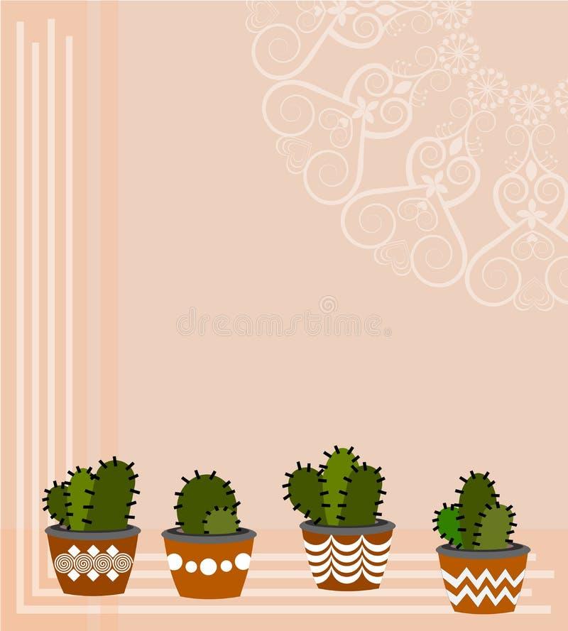 Illustrazioni di disposizioni del cactus royalty illustrazione gratis