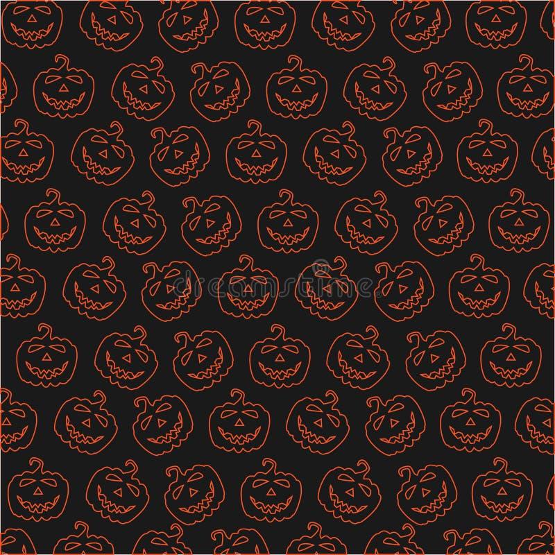 Illustrazioni di festa per Halloween in tonalità differenti immagine stock