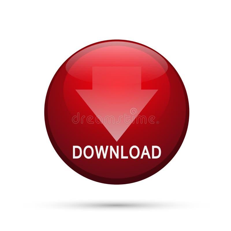 Illustrazioni di vettore dell'elemento di logo dell'icona di download su fondo bianco illustrazione di stock