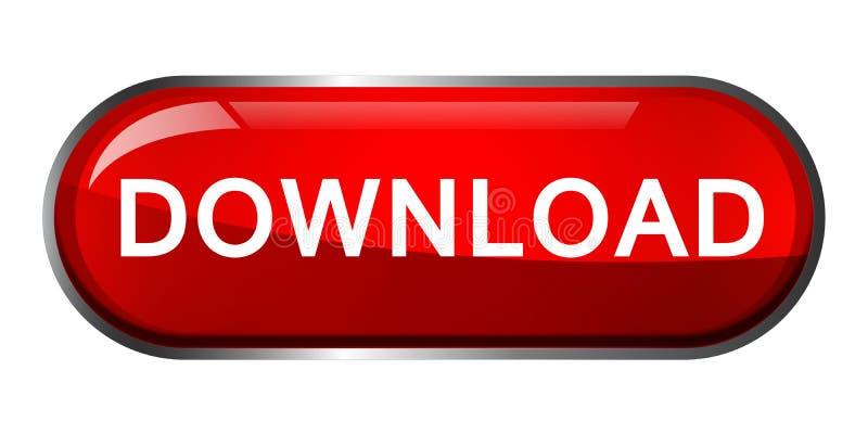 Illustrazioni di vettore dell'elemento di logo dell'icona di download su fondo bianco illustrazione vettoriale