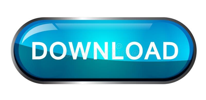 Illustrazioni di vettore dell'elemento di logo dell'icona di download su fondo bianco royalty illustrazione gratis