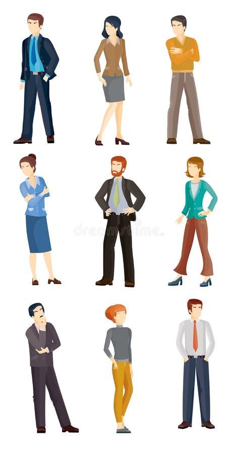 Illustrazioni di vettore della raccolta della gente di affari royalty illustrazione gratis