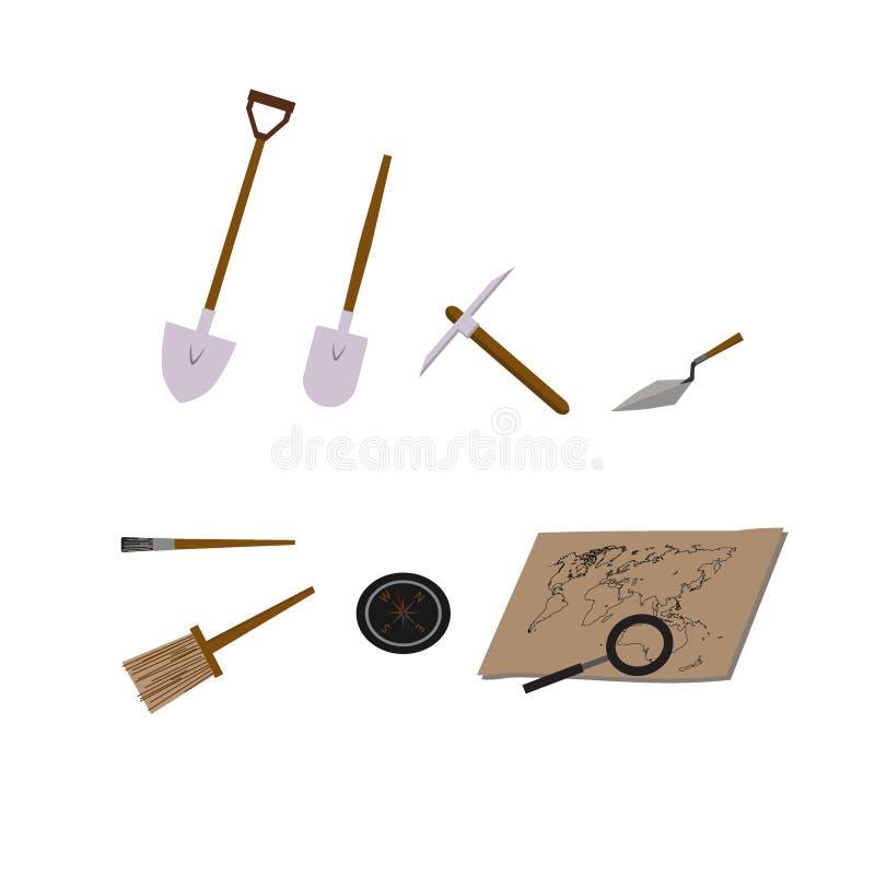 Illustrazioni di vettore di archeologia illustrazione vettoriale