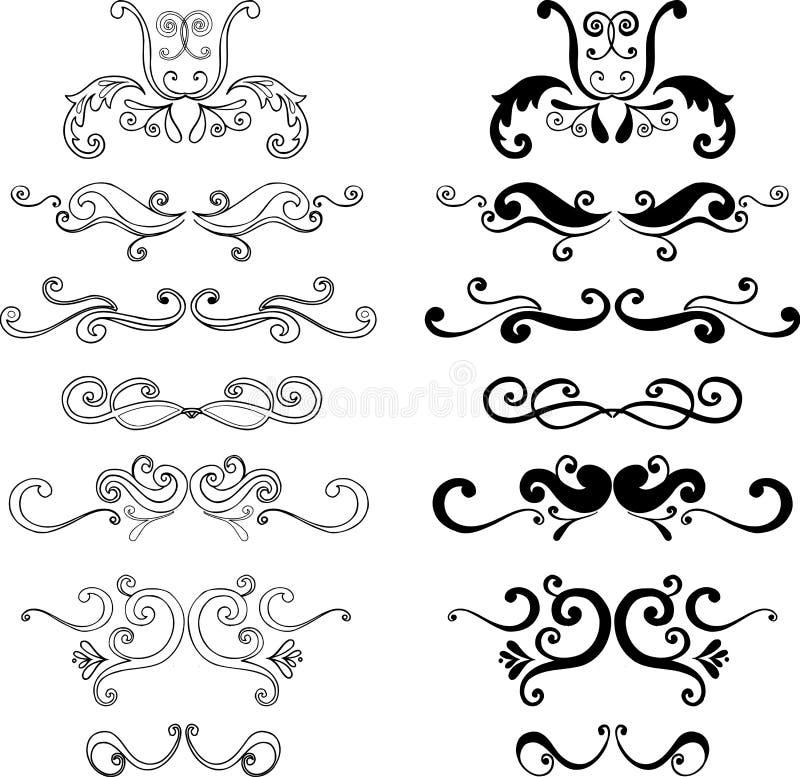 Illustrazioni ornamentali illustrazione vettoriale