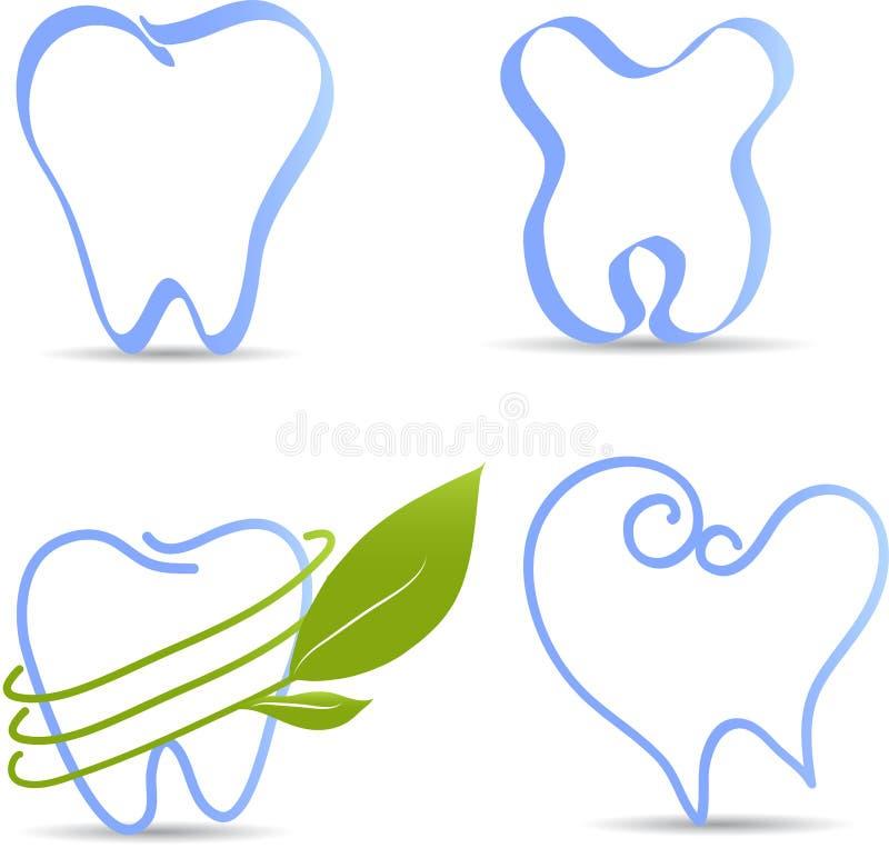 Illustrazioni semplici del dente illustrazione di stock