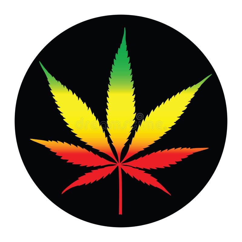 Illustreation лист марихуаны