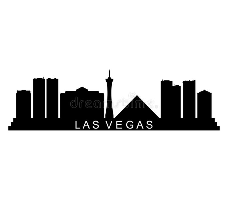 Illustrerad Las Vegas horisont royaltyfri bild
