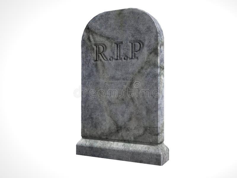 illustrerad tombstone royaltyfria bilder
