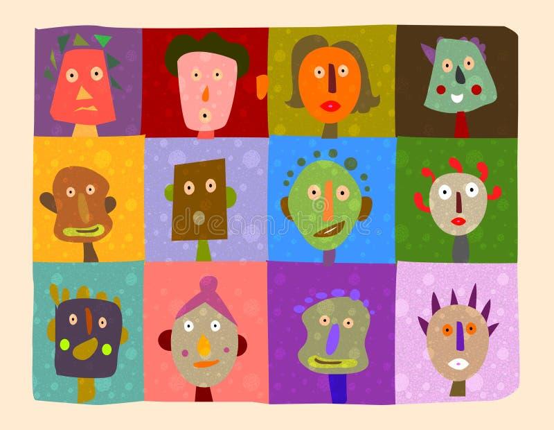 illustrerade framsidor royaltyfri illustrationer