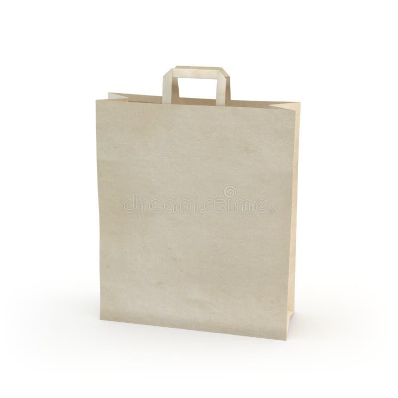 Illustrez d'un sac de papier images stock
