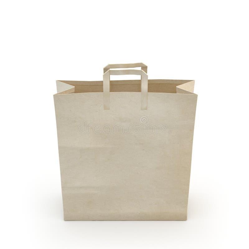 Illustrez d'un sac de papier photo stock