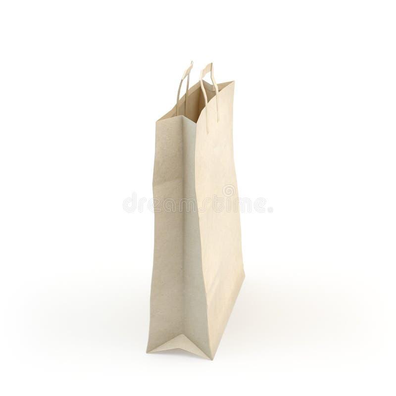 Illustrez d'un sac de papier photographie stock libre de droits