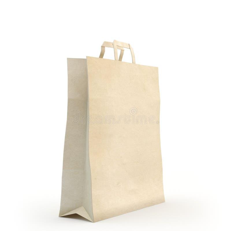 Illustrez d'un sac de papier image stock
