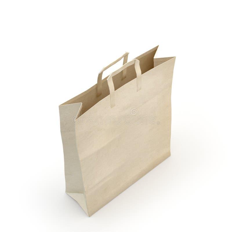 Illustrez d'un sac de papier images libres de droits