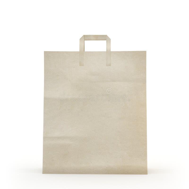 Illustrez d'un sac de papier image libre de droits