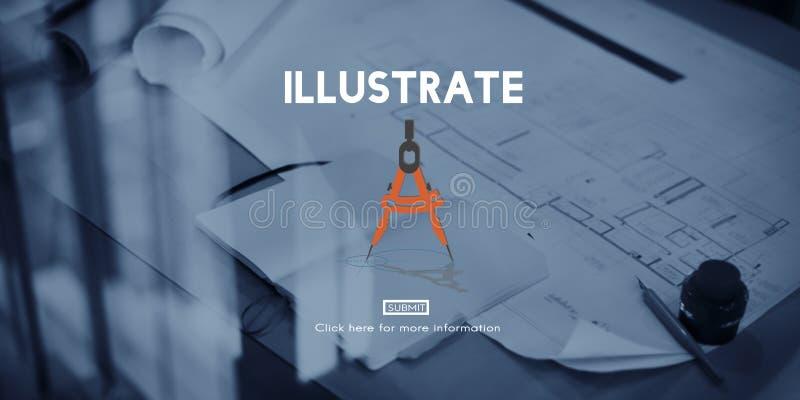 Illustrez le concept d'inspiration de créativité d'imagination d'aspiration photos libres de droits