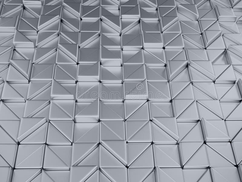 illustrtion 3d Zusammenfassung geometrischer metalli Hintergrund stock abbildung