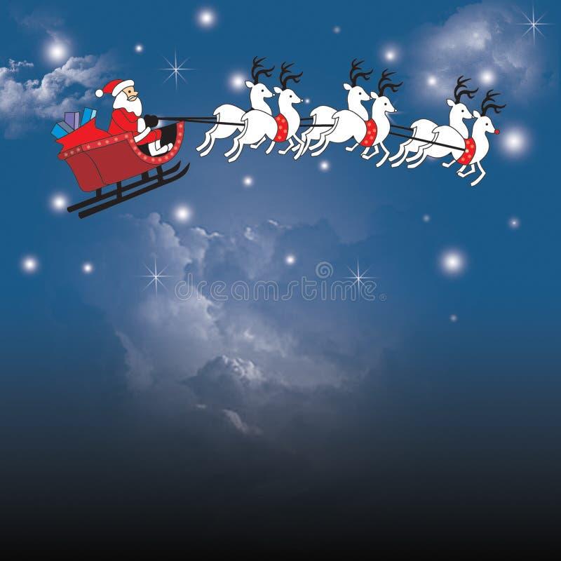 Illustrtion del trineo de Santa fotos de archivo
