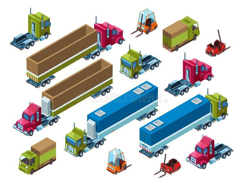 Illutration вектора грузового транспорта груза равновеликое бесплатная иллюстрация