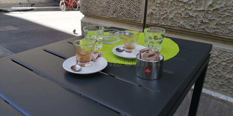 Illy kawa espresso w Trieste fotografia royalty free