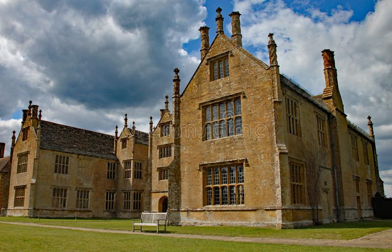 ILMINSTER, SOMERSET, ENGLAND - APRIL 15TH 2012: The wing of an English stately home stock photos
