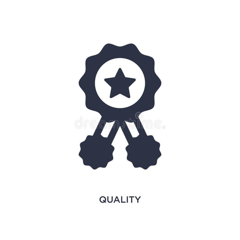ilości ikona na białym tle Prosta element ilustracja od obsługi klientej pojęcia royalty ilustracja