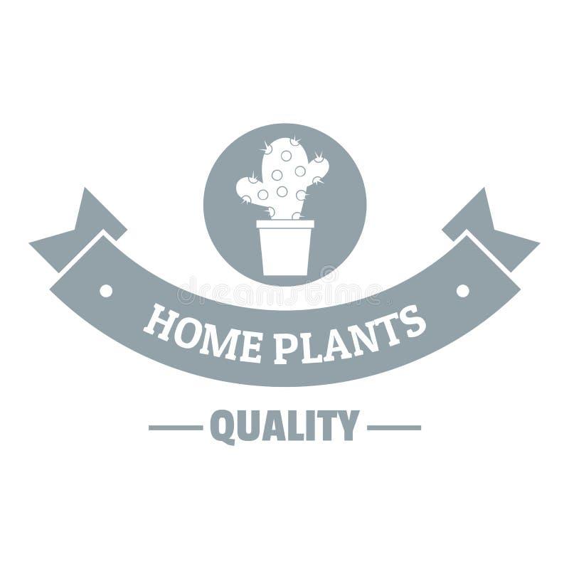 Ilość domowy kaktusowy logo, proste szarość projektuje royalty ilustracja