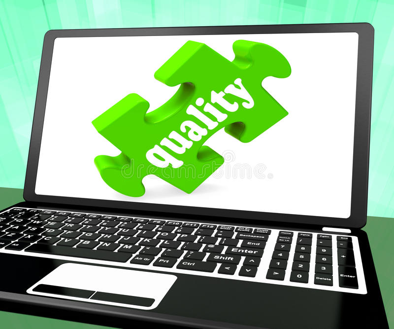 Ilość Na laptopie Pokazuje strony internetowej lepszość ilustracja wektor
