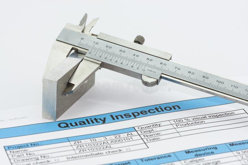 Ilości inspekcja obraz stock