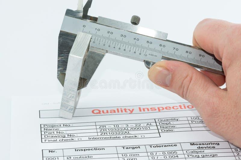 Ilości inspekcja zdjęcia stock