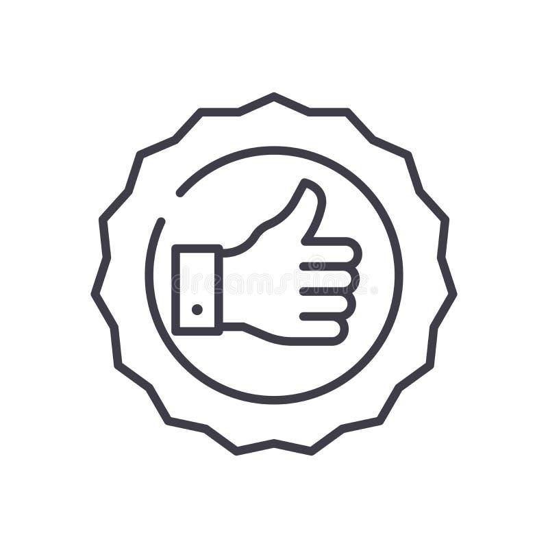 Ilości oceny czerni ikony pojęcie Ilości oceny płaski wektorowy symbol, znak, ilustracja ilustracja wektor