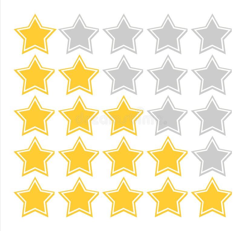 ilości oceny gwiazda ilustracja wektor