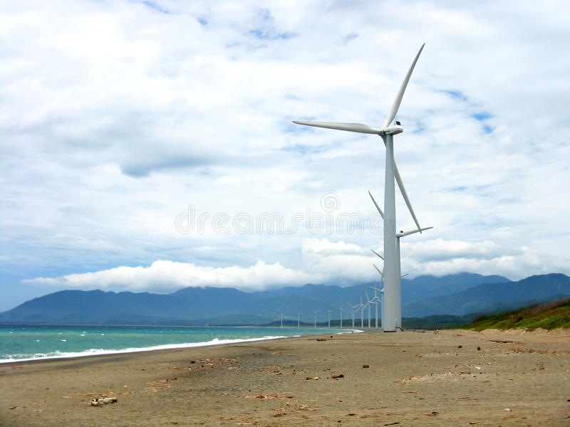 Ilocos Windmills stock images
