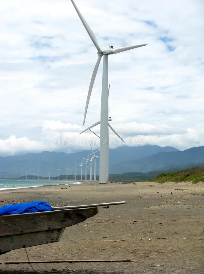 Ilocos Windmills stock photo