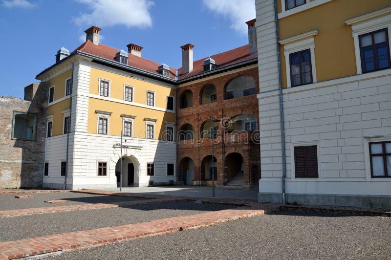 Ilok museum building. Museum building in Ilok, Croatia from the courtyard side stock image